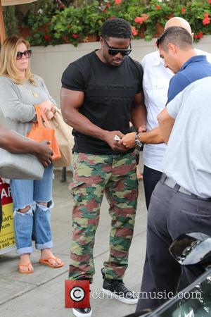 Reggie Bush - Reggie Bush and Lilit Avagyan leave Il Pastaio restaurant after lunch at Beverly Hills - Los Angeles,...