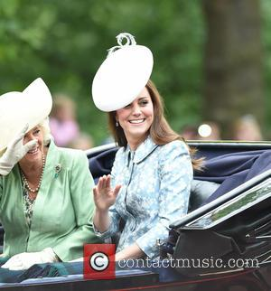Kate Middleton - The Queen attends Trooping the Colour, accompanied by other senior Royals, at Horse Guards Parade - London,...