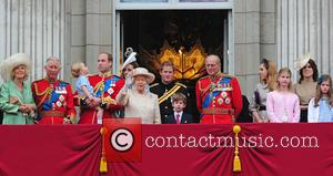 Prince George, Duchess of Cambridge, Prince William and the Queen