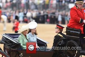 The Duchess of Cornwall, The Duchess of Cambridge and Prince Harry