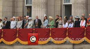Catherine, Duchess Of Cambridge, Prince Harry, Camilla, Duchess Of Cornwall, Prince Andrew, Duke Of York, Princess Eugenie Of York and Princess Beatrice