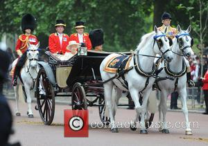 Duke of Edinburgh and Elizabeth II - The Queen attends Trooping the Colour, accompanied by other senior Royals, at Horse...
