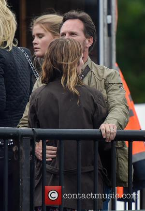 Geri Halliwell and Christian Horner - Geri Halliwell cuddles up to new husband Christian Horner at the Isle of Wight...