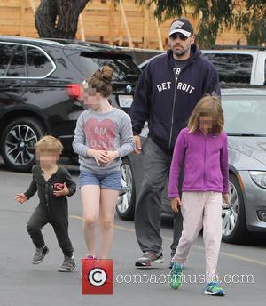 Ben Affleck, Violet Affleck and Samuel Garner Affleck