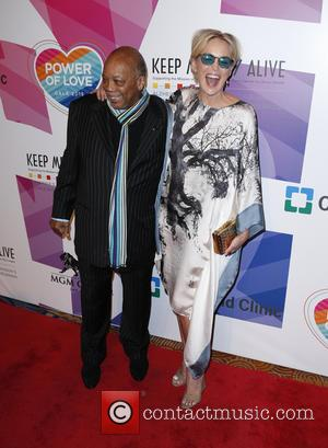 Quincy Jones and Sharon Stone