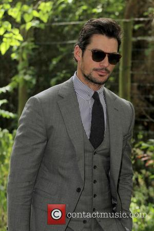 David Gandy - Burberry Prorsum London Collections Men SS16. at KensingtonGardens - London, United Kingdom - Monday 15th June 2015