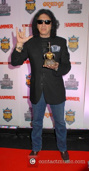 Gene Simmons - Metal Hammer Golden Gods Awards 2015 winners board at indigO2 at The O2 - London, United Kingdom...