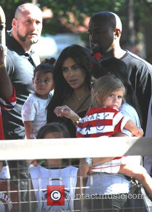Penelope Scotland Disick, Kim Kardashian and Kanye West