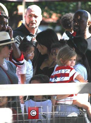 Penelope Scotland Disick, Kim Kardashian, Kanye West and North West