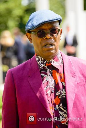 Samuel L Jackson - Burberry Prorsum Menswear SS15 arrivals held at Kensington Gardens - London, United Kingdom - Monday 15th...
