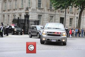 Michelle Obama - First Lady Michelle Obama seen Leaving Downing Street after meeting with British Prime Minister David Cameron -...