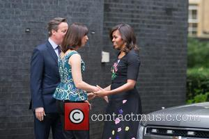 Michelle Obama, David Cameron Mp and Samantha Cameron