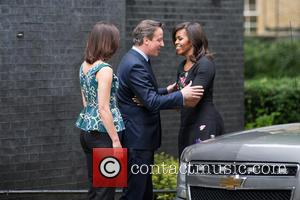 Michelle Obama, David Cameron MP and Samantha Cameron - Michelle Obama meets the Prime Minister David Cameron at 10 Downing...