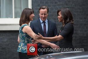 Samantha Cameron, David Cameron and Michelle Obama