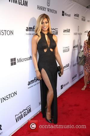 Laverne Cox - 2015 amfAR Inspiration Gala New York at Spring Studios - Outside Arrivals - New York, New York,...