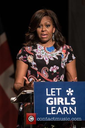 Michelle Obama - Michelle Obama visits Mulberry School for Girls in East London - London, United Kingdom - Tuesday 16th...