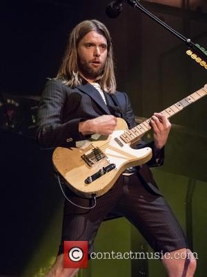 James Valentine - Maroon 5 performing live on stage at Meo Arena in Lisbon - Lisbon, Portugal - Wednesday 17th...