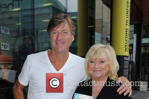 Richard Madeley and Judy Finnigan - Richard Madeley accompanies his wife Judy Finnigan to BBC Breakfast where she is appearing...