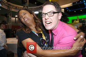 Aisha Tyler and Greg Miller - Publishers, studios, and celebrities announcing and attending the Electronic Entertainment Expo in Los Angeles...