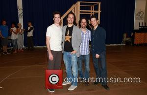 Andy Blankenbuehler, Lin-manuel Miranda, Alex Lacamoire and Thomas Kail