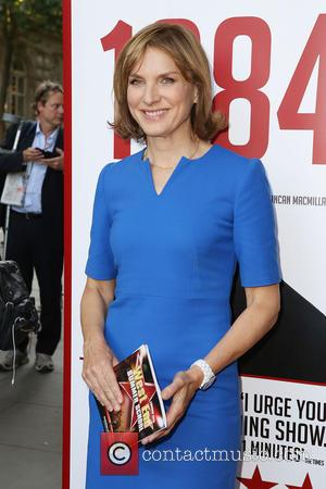 Fiona Bruce - '1984' play press night - London, United Kingdom - Friday 19th June 2015