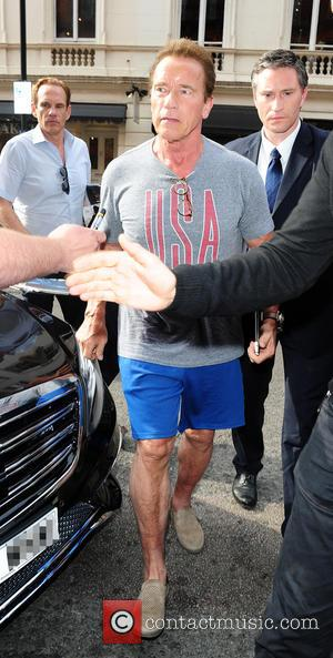Arnold Schwarzenegger - Arnold Schwarzenegger leaving a gym in London at London - London, United Kingdom - Friday 19th June...