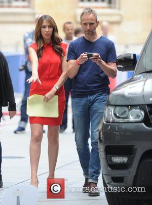 Boris Becker - The One Show seen filming in London at BBC Studios in London , Alex Jones and Boris...