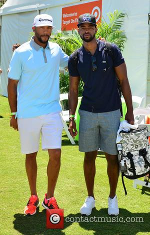 Stephen Bishop and Jay Ellis - 11th Annual JEEP Celebrity Golf Tournament during The 11th Annual Irie Weekend at Miami...