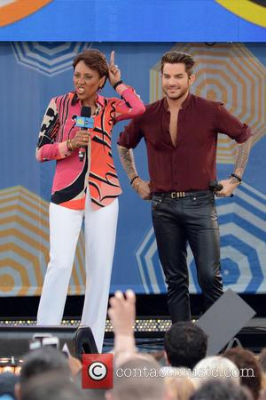 Robin Roberts and Adam Lambert - Adam Lambert performs live on ABC's 'Good Morning America' at Good Morning America -...