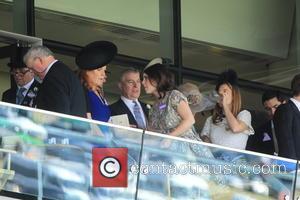 Duchess of York, Sarah Ferguson, Princess Beatrice, Princess Eugenie and Prince Andrew - Royal Ascot 2015 - Day 4 at...