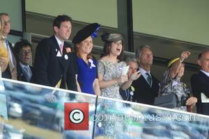 Dave Clark, Duchess of York, Sarah Ferguson, Princess Beatrice, Princess Eugenie and Prince Andrew - Royal Ascot 2015 - Day...