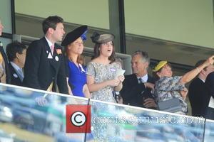 Dave Clark, Duchess of York, Sarah Ferguson, Princess Beatrice, Princess Eugenie and Prince Andrew