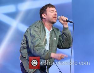 Blur and Damon Albarn - Blur perform at Barclaycard British Summertime - Day Two at Hyde Park, London on June...