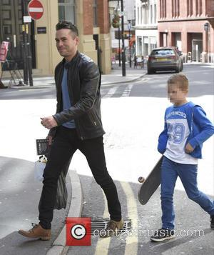 Bruno Langley - Coronation Street stars are joined by family and friends for a Father's Day meal at Avalanche Restaurant...