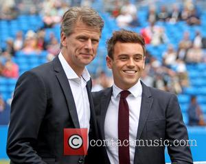 Tom Daley and Andrew Castle
