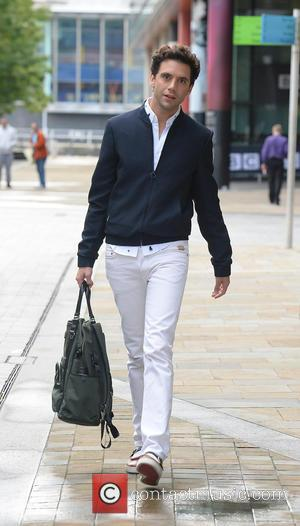 Mika - Guests leave the BBC Breakfast studios after appearing on the show at MediaCityUK in Manchester - Manchester, United...