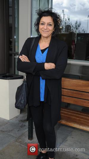 Meera Syal - Meera Syal at MediaCityUK in Manchester - Leeds, United Kingdom - Monday 22nd June 2015