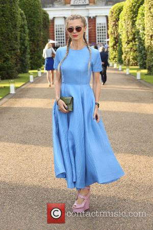 Laura Bailey - Vogue and Ralph Lauren Wimbledon Party held at Kensington Place Orangery - Arrivals - London, United Kingdom...
