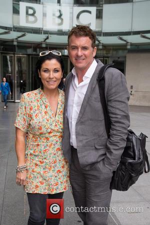 Shane Richie and Jessie Wallace - Shane Richie and Jessie Wallace pictured leaving the BBC Studios at BBC Portland Place...