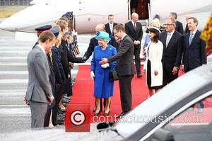 Queen Elizabeth II - Queen Elizabeth II arrives at Tegel International Airport in Berlin for the start of her Royal...