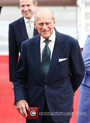 Prince Philip Duke of Edinburgh - Queen Elizabeth II arrives at Tegel International Airport in Berlin for the start of...