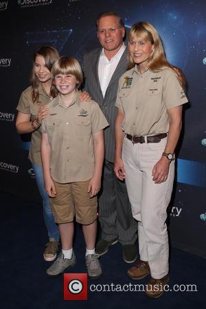Bindi Irwin, Robert Irwin, David zaslav and Terri Irwin
