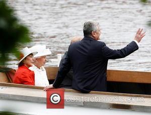 Queen Elizabeth Ii, Daniela Schadt and Joachim Gauck