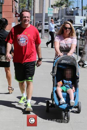 Tom Arnold, Jax Arnold and Ashley Groussman at Beverly Hills