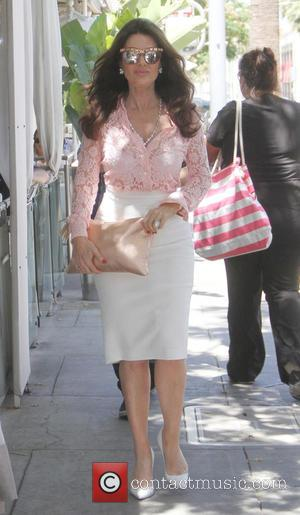 Lisa Vanderpump - Lisa Vanderpump filming for the upcoming sixth season of 'Real Housewives Of Beverly Hills' at Cecconi's restaurant...