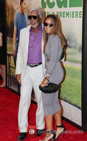 Morgan Freeman and Alexis Freeman