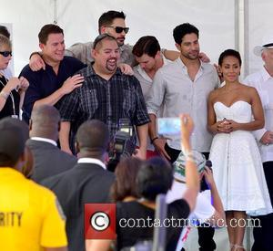 Channing Tatum, Joe Manganiello, Gabriel Iglesias, Matt Bomer, Adam Rodríguez and Jada Pinkett Smith