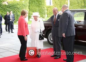 Angela Merkel, Queen Elizabeth Ii, Prince Philip Duke Of Edinburgh and Peter Altmaier