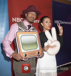 Nick Cannon and Melanie Brown - NBCUniversal's 2015 Summer Press Day at The Langham Huntington Hotel and Spa - Arrivals...