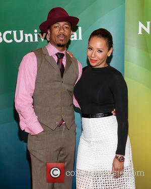 Nick Cannon, Melanie Brown and Mel B - NBCUniversal Summer Press Day 2015 at the Four Seasons Hotel - New...